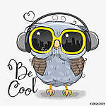 Cute Owl with sun glasses (id: 19024)