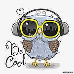 Cute Owl with sun glasses (id: 19024) többrészes vászonkép