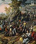 Joachim Beuckelaer: A keresztet cipelő Krisztus (id: 19724) falikép keretezve