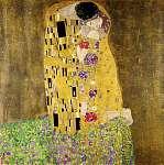 A csók, 1908 (id: 324) vászonkép óra