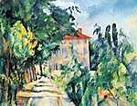 Paul Cézanne: Ház piros tetővel (id: 424)