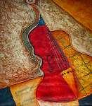 Juan Gris: Olajfestmény festmények Művészi nyomtatás Hegedű zene (id: 7724) tapéta