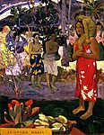 Paul Gauguin: Ia Orana Maria (Szűz Mária) - Színverzió 1. (id: 3925) tapéta