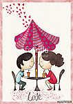 Pár szeretettel. Ábra. Üdvözlőlap. (id: 10626) vászonkép