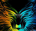 Abstract Vector Multicolored Powerful Wolf vászonkép, poszter vagy falikép