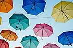 Színes esernyők (id: 18426) vászonkép