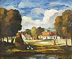 Iványi-Grünwald Béla: Tájkép házakkal (id: 19826) poszter