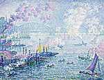 Paul Signac: A rotterdami kikötő (1907) (id: 3826) falikép keretezve