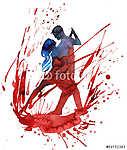 szenvedélyes tánc (id: 5626) többrészes vászonkép