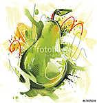 Vázlatos zöld körte (id: 10327)