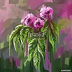 festmény állati virág  (id: 11427) vászonkép óra