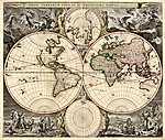 Világtérkép, 1658 (id: 2327) vászonkép