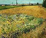 Vincent Van Gogh: Búzamező (id: 2927) falikép keretezve