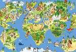 Mókás világtérkép gyerekszobába (id: 3527)