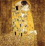 A csók -  bicolor színverzió (id: 4127) vászonkép