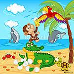 a tojás krokodil tojás papagájban található állatok (id: 4527) poszter