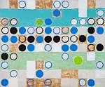 Juan Gris: Absztrakt festmény; köröket rendszeres rácson (id: 7427) tapéta