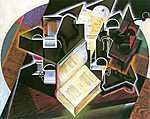 Juan Gris: Csendélet könyvvel, pipával és üvegekkel (id: 1328) poszter