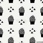 Hand Drawn Cactus Pattern (id: 15028) vászonkép