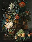 Jan van Huysum: Virágcsokor (id: 18628) többrészes vászonkép