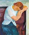 Pihenő nő portréja (id: 19828)