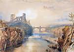 William Turner: Barnard Castle látképe (színverzió 1) (id: 20328) többrészes vászonkép