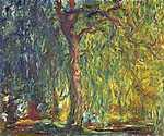 Claude Monet: Szomorú fűz (1918-19) (id: 3028) vászonkép óra