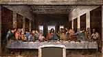 Leonardo da Vinci: Az utolsó vacsora (sötét verzió) (id: 4128) tapéta
