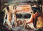 Paul Cézanne: Páris ítélete (id: 428) többrészes vászonkép