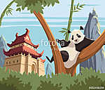 Panda a fán (id: 11129) poszter