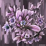 festmény állati virág  (id: 11429) többrészes vászonkép