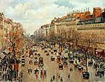 Pierre Auguste Renoir: A Montmartre sugárút (id: 12029) vászonkép óra