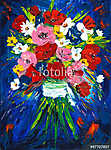 Virágcsokor absztrakt stílusban festmény (id: 13229) poszter