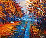 Autumn landscape (id: 13329) vászonkép óra