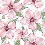 Floral seamless pattern. Watercolor background with delicate flo (id: 14129)