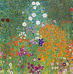Gustav Klimt: Zöldséges kert (id: 16229) vászonkép óra