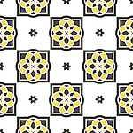 Portugál csempe 6. - tapétaminta (id: 19129) falikép keretezve