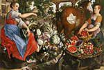 Joachim Beuckelaer: Zöldséget áruló nő (id: 19729) falikép keretezve