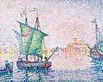 Paul Signac: Velence, A rózsaszín felhő (1909) (id: 3829) falikép keretezve