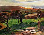 Vincent Van Gogh: Bretagne-i tájkép - Színverzió 1. (1889) (id: 3929)