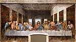 Leonardo da Vinci: Az utolsó vacsora (világos verzió) (id: 4129) falikép keretezve