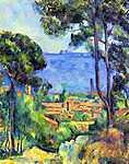 Paul Cézanne: Cézanne: Látkép (id: 429) vászonkép