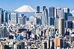 Tokió télen Fujiyama-val a háttérben (id: 9429) poszter