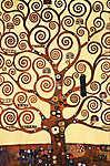 Gustav Klimt: Az élet fája feldolgozás (részlet) (id: 16230) vászonkép óra