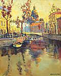 Kind on old streets of St.-Petersburg (id: 16430) vászonkép óra