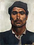 Mednyánszky László: Férfi portré  kalapban (id: 20030) poszter