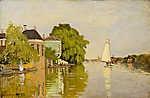 Claude Monet: Házak az Achterzaan folyónál (id: 20130) vászonkép óra