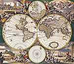Világtérkép (id: 2330) falikép keretezve