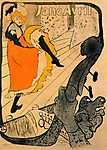 Henri de Toulouse Lautrec: Jane Avril kán-kánt táncol (id: 1131) falikép keretezve