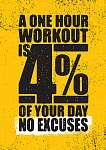 Egy órás edzés a nap 4 százaléka. Nincs mentség. Inspiri (id: 11731)